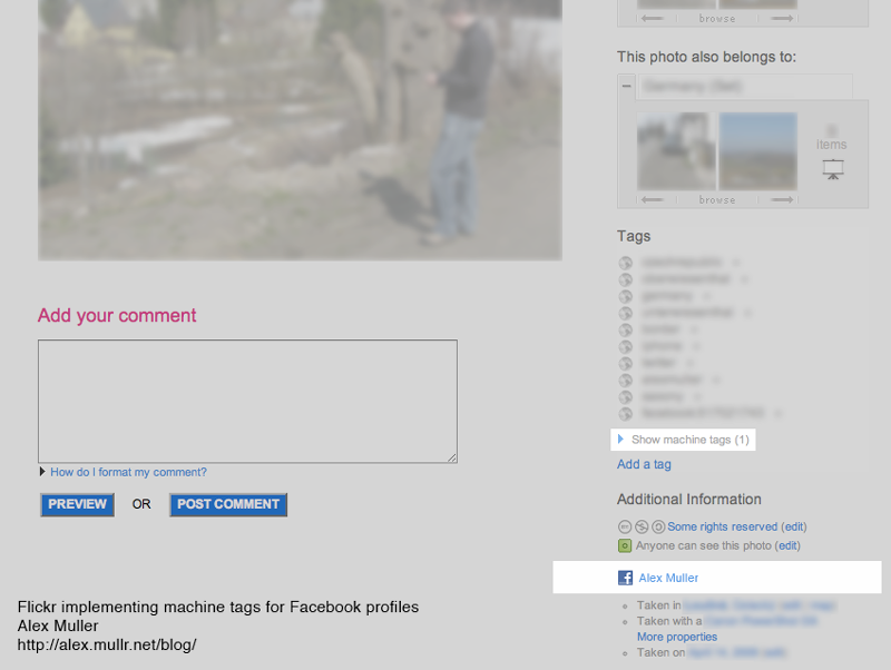 Facebook and Flickr Implementing Machine Tags