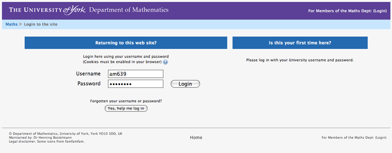 Moodle: New Login
