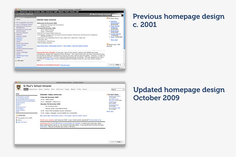 Homepage Comparison