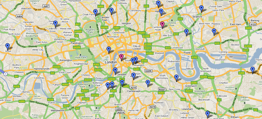2008-2009 Teenage Homicides in Central London
