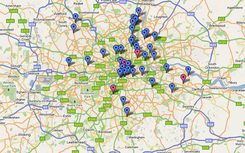 2008-2009 Teenage Homicides in London