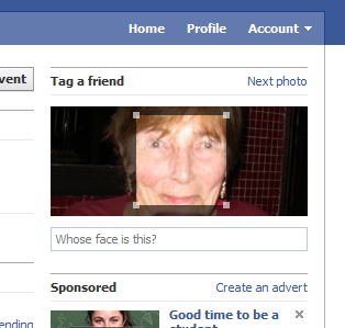 Facebook: Whose face is this?